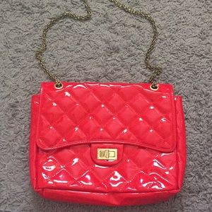 Quilted chain purse